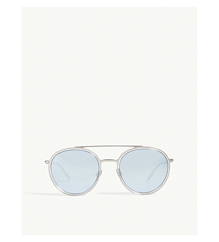 EMPORIO ARMANI Ar6051 round-frame sunglasses (Transparent