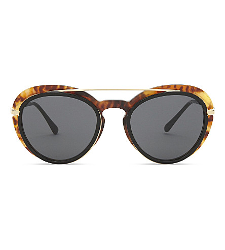 GIORGIO ARMANI Ar6055 oval-frame sunglasses (Gold