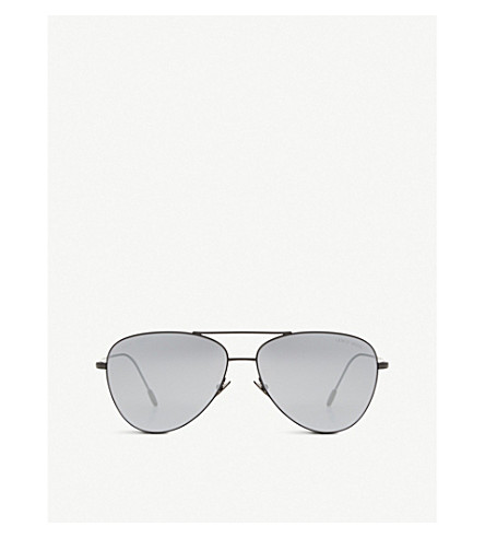 GIORGIO ARMANI Frames of Life AR6049 aviator sunglasses (Matte+black