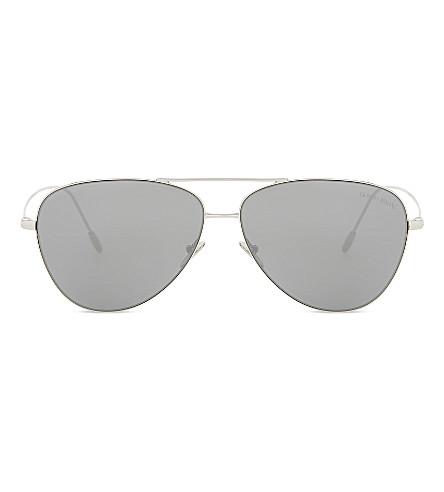 GIORGIO ARMANI AR6049 aviator sunglasses (Silver