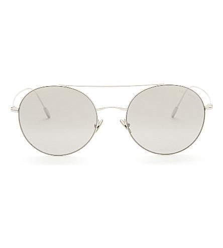 GIORGIO ARMANI Ar6050 round-frame sunglasses (Silver