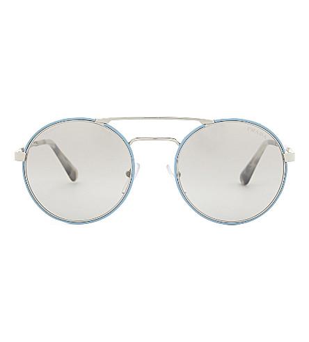 PRADA Pr51ss round-frame sunglasses (Silver
