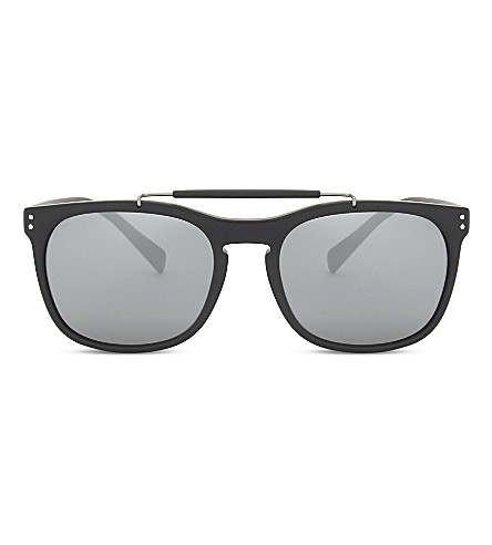 BURBERRY Be4244 Mr Burberry square-frame sunglasses (Matte+black