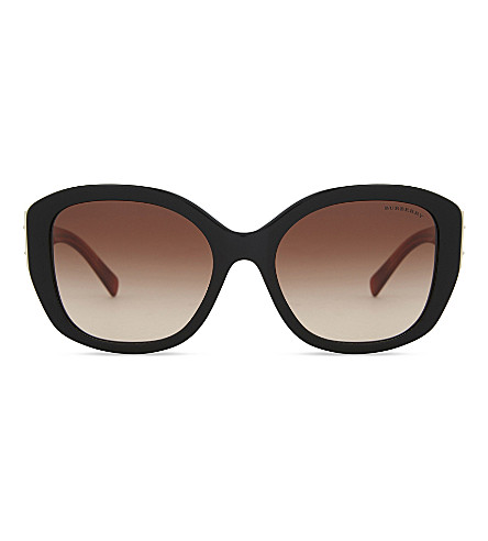 BURBERRY BE4248 oversized square-frame sunglasses (Black