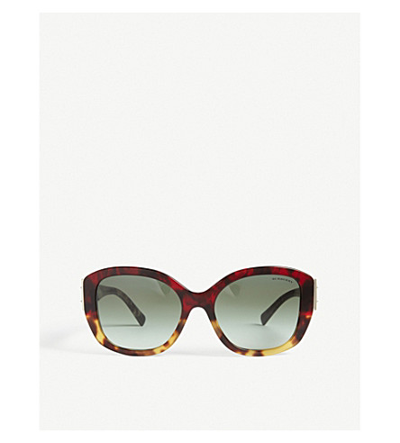BURBERRY BE4248 square-frame sunglasses (Red