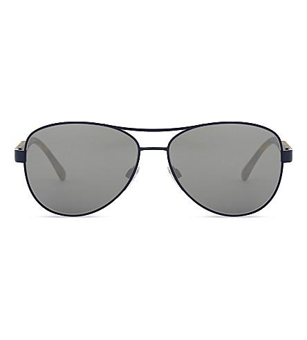 BURBERRY Be3080 aviator sunglasses (Matte+blue