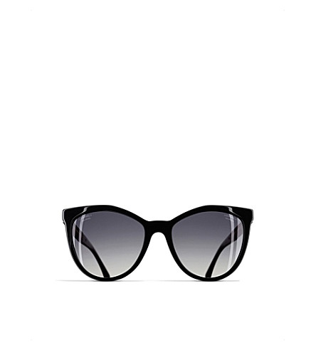 176e677dcb CHANEL Cat-eye sunglasses (Black