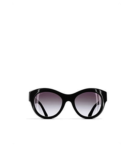 CHANEL Butterfly sunglasses (Black+and+silver