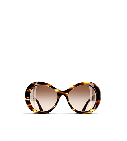 CHANEL Oval sunglasses (Brown