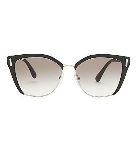 PRADA Pr56Ts square-frame sunglasses (Silver