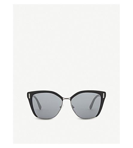 PRADA PR56Ts square-frame sunglasses (Gunmetal