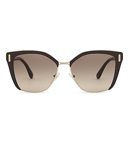 PRADA Pr56Ts cat-eye frame sunglasses (Pale+gold