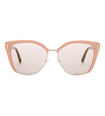 PRADA PR56Ts square-frame sunglasses (Pale+gold