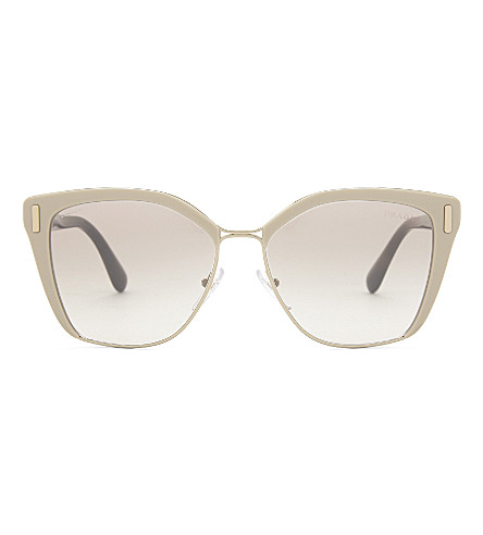 PRADA Pr56ts square-frame sunglasses (Pale+gold
