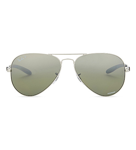RAY-BAN RB8317CH Chromance® aviator sunglasses (Silver