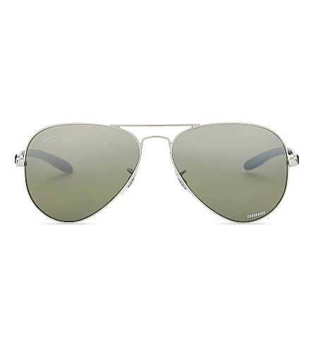 RAY-BAN RB8317CH Chromance® aviator sunglasses (Silver