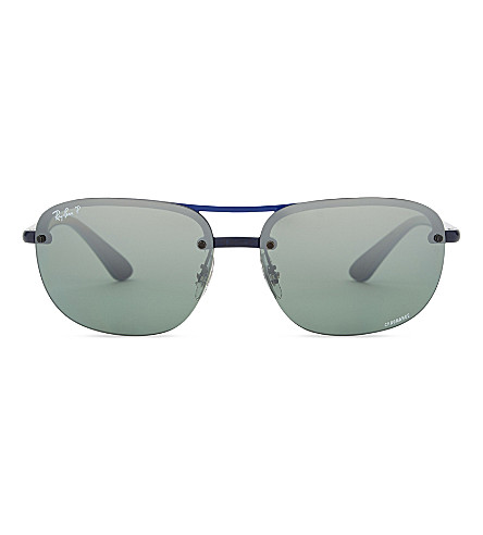 RAY-BAN RB4275CH Chromance® square-frame sunglasses (Blue