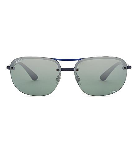 RAY-BAN RB4275CH Chromance® square-frame sunglasses (Blue