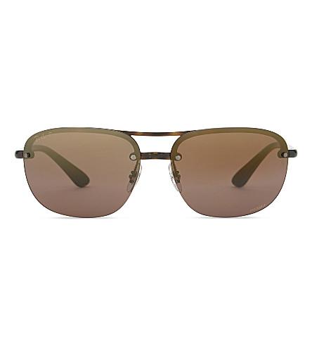 RAY-BAN RB4275CH Chromance® Havana square-frame sunglasses (Havana
