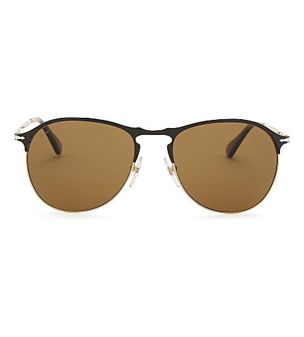 PERSOL Po7649s aviator sunglasses (Matte+black