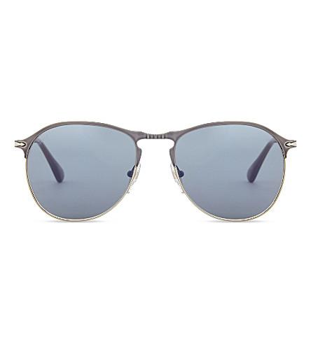 PERSOL Po7649s pilot-frame sunglasses (Blue