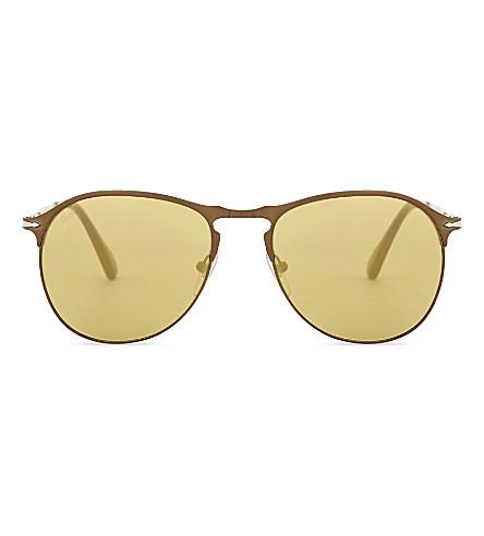 PERSOL Po7649s pilot-frame sunglasses (Brown