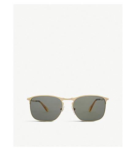 PERSOL PO7359S polarised rectangle-frame sunglasses (Matte+gold
