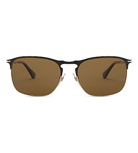 PERSOL Po7359s square-frame sunglasses (Matte+black