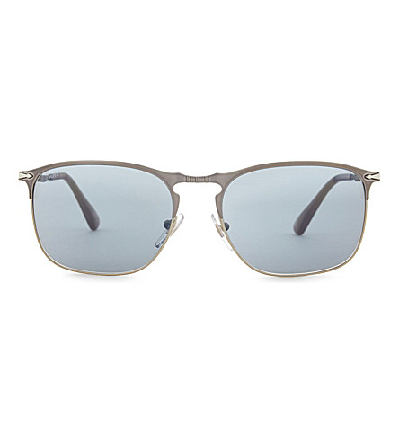 PERSOL Po7359s rectangle-frame sunglasses (Blue