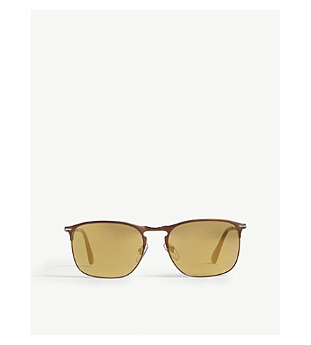 PERSOL PO7359s pilot-frame sunglasses (Brown