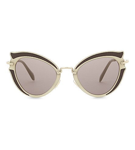 MIU MIU Mu05s cat-eye sunglasses (Brown