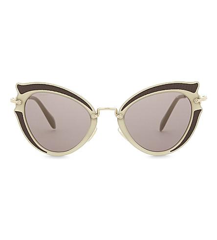 MIU MIU Mu05s 猫眼太阳镜 (棕色