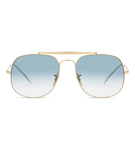 RAY-BAN Rb3561 square-frame sunglasses (Gold