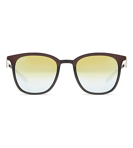 RAY-BAN RB4278 square-frame polarised sunglasses (Matte+brown