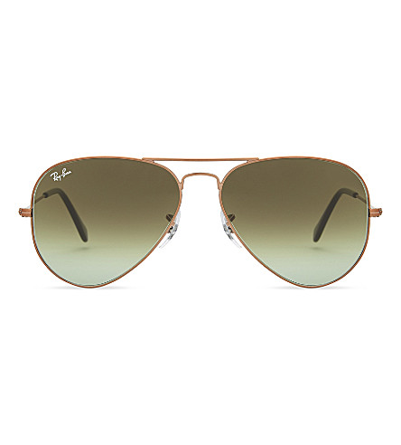 RAY-BAN Rb3025 aviator sunglasses (Shiny+bronze