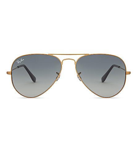 RAY-BAN Rb3025 Aviator-frame pilot sunglasses (Shiny+bronze