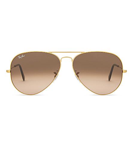 RAY-BAN Rb3026 Aviator gradient sunglasses (Shiny+bronze