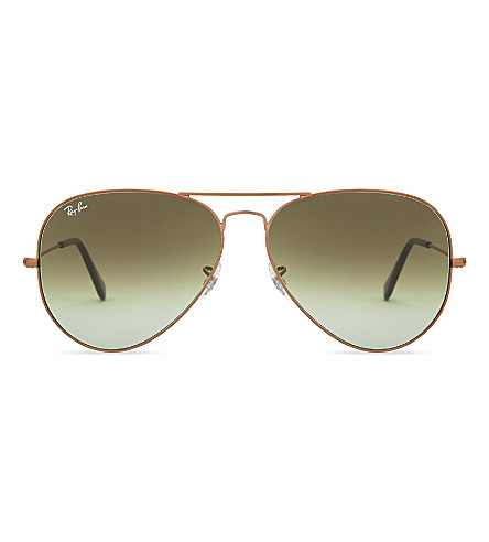 RAY-BAN Rb3026 aviator sunglasses (Shiny+bronze