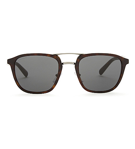 PRADA Pr12ts square-frame sunglasses (Havana