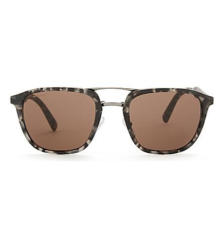 PRADA Pr12ts square-frame sunglasses (Grey+havana