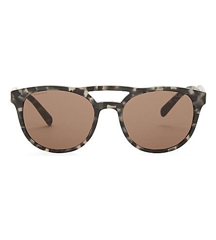 PRADA Pr13ts square-frame sunglasses (Grey+havana