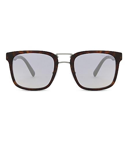 PRADA Pr14ts square-frame sunglasses (Havana