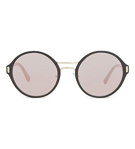 PRADA Pr57ts round-frame sunglasses (Pale+gold