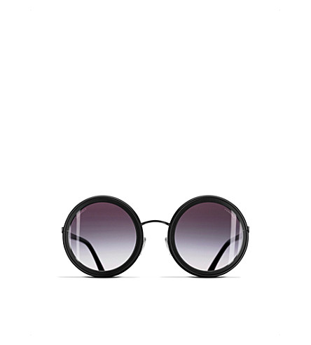 CHANEL Round sunglasses (Black