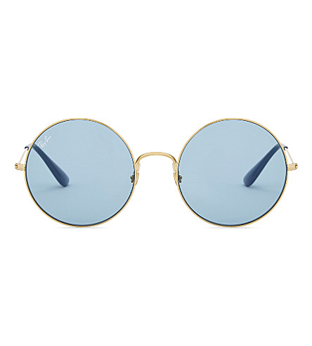 RAY-BAN Rb3592 Ja-Jo round-frame sunglasses (Gold