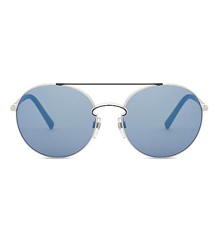 VALENTINO Va2002 圆框太阳镜 (银色