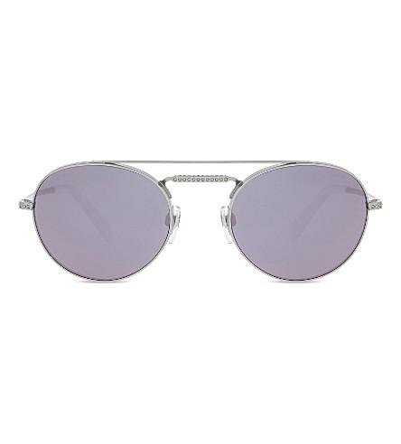 VALENTINO Va2004 oval-frame sunglasses (Silver
