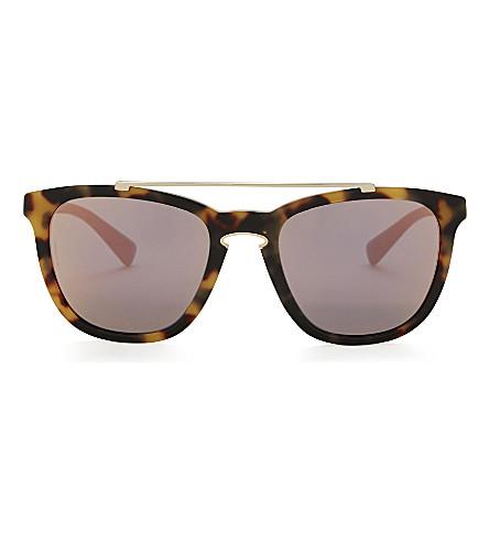 VALENTINO Va4002 square-frame sunglasses (Top+havana
