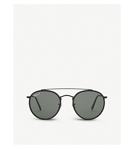RAY-BAN Rb3647 round-frame sunglasses (Black