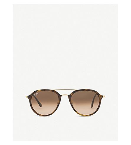 RAY-BAN RB4253 Havana tortoiseshell sunglasses (Havana